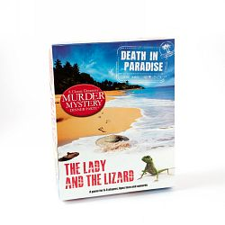 death in paradise, the lady and the lizard murder mystery dinner party game
